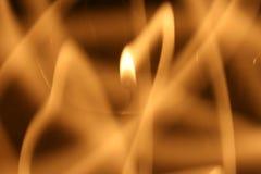 Journaux de la flamme Photographie stock