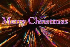 Journaux de lumière de Joyeux Noël Photographie stock