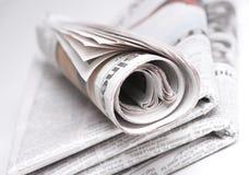Journaux empilés Photographie stock libre de droits