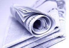 Journaux empilés Photos libres de droits