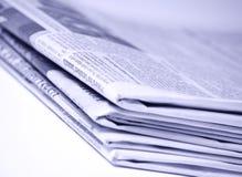 Journaux empilés Images libres de droits