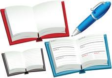 Journaux intimes et stylo Photos stock