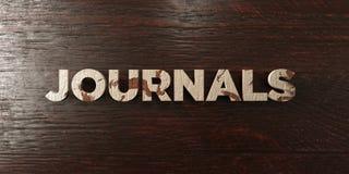 Journaux - titre en bois sale sur l'érable - image courante gratuite de redevance rendue par 3D Image libre de droits