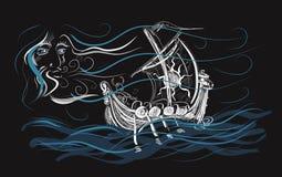 Journey. Vikings sailing Stock Photography