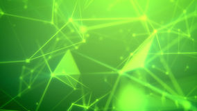 Journey through the abstract green grid. Enigmatic 3d illustration of a science fiction Internet based cyberspace with a lot of shimmering light green and yellow stock illustration