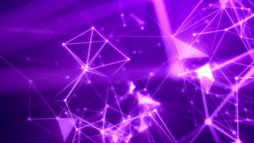 Journey through the abstract violet network. Splendid 3d illustration of a science fiction Internet based system with a lot of shining and blurred light rosy and Vector Illustration