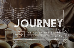Journey Adventure Post Stamp Travel Concept royalty free stock photography