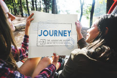 Journey Adventure Post Stamp Travel Concept Royalty Free Stock Photo