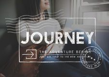 Journey Adventure Post Stamp Travel Concept. Journey Adventure Post Stamp Travel royalty free stock photography