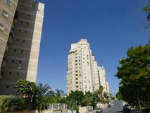 High-rise modern buildings in Beersheba royalty free stock photography