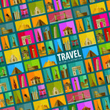 Journey. background. vector. flat illustration Royalty Free Stock Photo