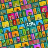 Journey. background. vector. flat illustration Royalty Free Stock Photo
