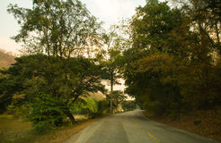 Journey begins with roads. Journey begins with roads, Chiangmai Stock Image