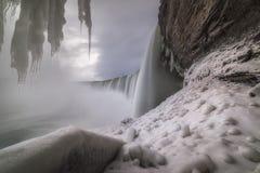Journey Behind Niagara Falls. Long exposure of Niagara Falls from Canada Stock Photography
