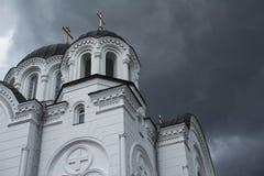 Journey. Belarus. Spaso-Preobrazhensky Cathedral in Polotsk. stock photography