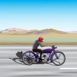 Journey by bike Stock Photography