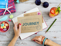 Journey Brand Tag Word Graphic Concept Royalty Free Stock Photo