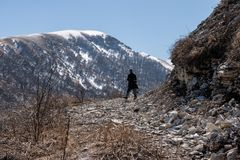 Journey in the Caucasus mountains Stock Images