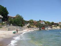 Journey. The coastal strip of the peninsula of Nessebar Royalty Free Stock Photos
