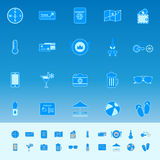 Journey color icons on blue background Royalty Free Stock Photo