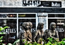 Journey through Cuba. The Beatles. Somewhere in Varadero. Such a different Cuba royalty free stock image