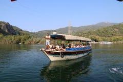 Journey on the Dalyan River, Turkey stock image