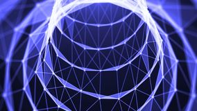 Journey in data tunnel. Speed motion inside fibre optic cable. Abstract background Stock Photos