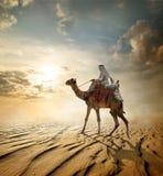 Journey through desert Stock Photography