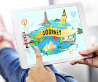 Journey Exploration Tour Travel Trek Vacation Concept Stock Images