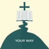 Journey of faith. The way to Jesus Christ, through the Bible Stock Image