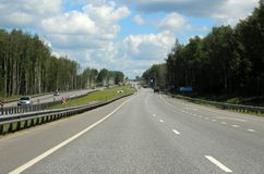 Turn to Moscow. 127 kilometers from Moscow. Stock Photography