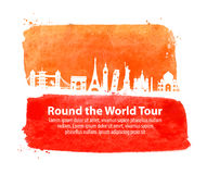 Journey. historic buildings of the world. vector illustration Stock Photography