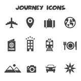 Journey icons Stock Photo