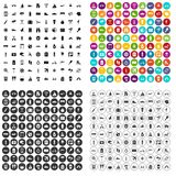 100 journey icons set vector variant. 100 journey icons set vector in 4 variant for any web design isolated on white Royalty Free Stock Photo