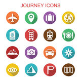 Journey long shadow icons Royalty Free Stock Photo