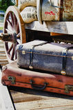 Journey into the past - HDR. Nostalgia - Journey into the past - Travel luggage and supplies - Vintage Stock Image