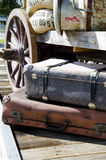 Journey into the past. Nostalgia - Journey into the past - Travel luggage and supplies - Vintage Stock Photo