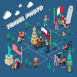 Journey People Isometric Template Royalty Free Stock Photos