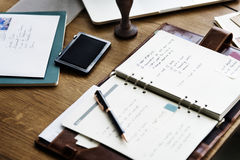 Journey Planner Home Office Concept Stock Photography