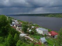 Journey through Russia. Summer. In Central Russia. Ivanovo region, Plyos on the Volga. Volga. The local nature. Panorama of types. Panoramas Levitan Stock Image