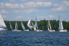 Journey on a sailing boat.Summer travel. Royalty Free Stock Photo