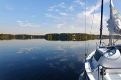 Journey on a sailing boat.Summer travel. Stock Image