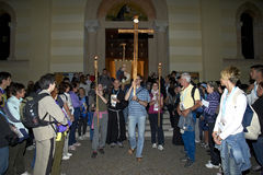 The journey of St.Anthony Stock Photo