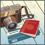 Journey. Stylized vector illustration on the theme of travel and photography Royalty Free Stock Images