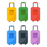 Journey suitcase travel bag vector. Royalty Free Stock Images