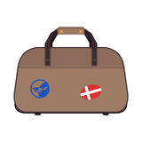 Journey suitcase travel bag vector. Royalty Free Stock Image
