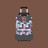 Journey suitcase travel bag vector. Stock Photo