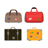 Journey suitcase travel bag vector. Royalty Free Stock Photos