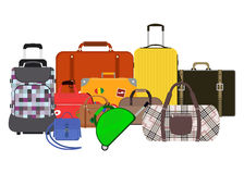 Journey suitcase travel bag vector. Stock Image