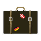 Journey suitcase vector. Royalty Free Stock Photos